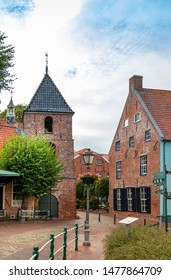 gretsiel old town in north germany, panoramic view