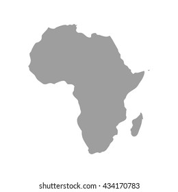 Grey Africa map. Africa map blank.