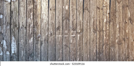 Grey Barn Wooden Wall Planking Wide Texture. Old Solid Wood Slats Rustic Shabby Gray Background.  Dark Hardwood Weathered Square Surface. Grungy Faded Timber Wood Structure. Abstract Web Banner