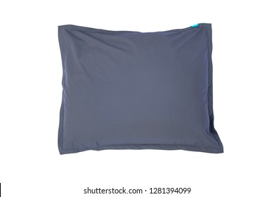 Grey beanbags isolated on white background.