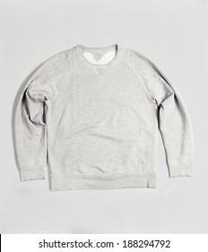 grey blank sweatshirt