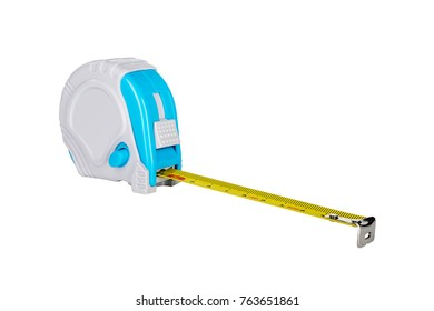 Grey and blue measuring tape