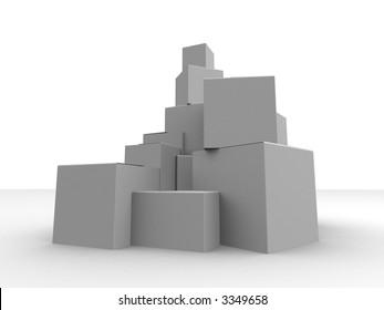 grey boxes