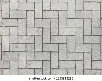 Grey brick pavement texture