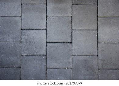 Grey brick paving
