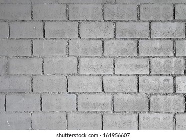 grey brick wall for background or texture