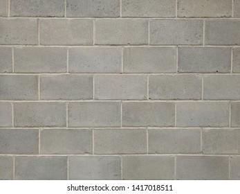 Grey Brick Wall. Neat & Clean Masonary. Line. texture Background