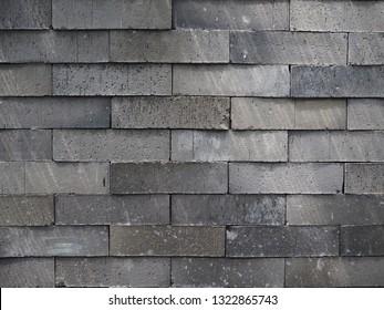 Grey brick wallpaper. Old brick wall texture.