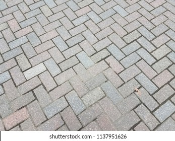 grey bricks on the ground