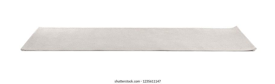 Grey carpet on white background. Interior element