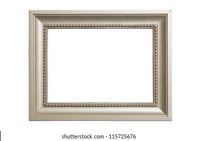 grey classic picture frame isolated on white