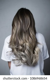 Grey colored hair