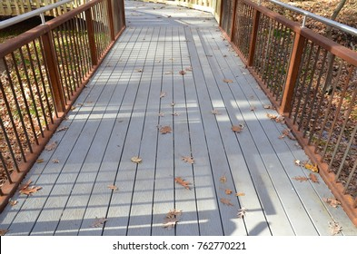 grey composite wood walkway or path