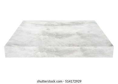grey concrete block  on white background with clipping path