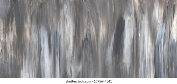 Grey Creative abstract hand painted background, wallpaper, texture, close-up fragment of acrylic painting on canvas with brush strokes. Modern art. Contemporary art.