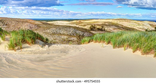 Grey dunes in the fall time. Curonian Spit, Lithuania.