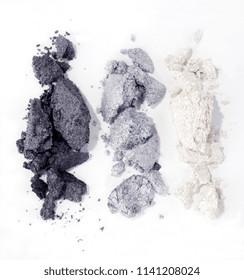 grey eyeshadow isolated on white background