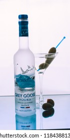 Grey Goose Vodka Martini with Olives