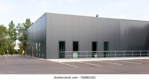 grey and green building for industry or business