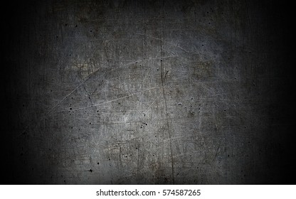 Grey grunge metal textured wall background