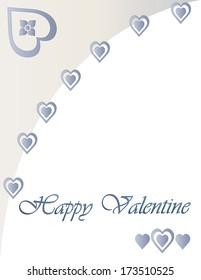 Grey Happy Valentine Hearts