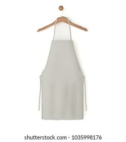 grey isolated apron 3d rendering