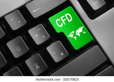 grey keyboard with green enter key cfd international trading