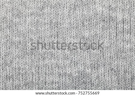 f007fd415c221e Grey Knitted Fabric Made Heathered Yarn Stock Photo (Edit Now ...