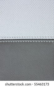 grey leather sewing white textile texture