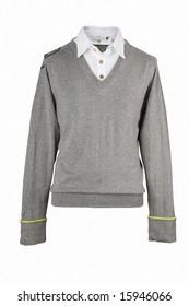 Grey man's shirt