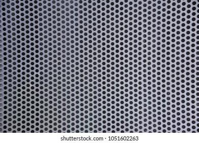 Grey metal perforated sheet