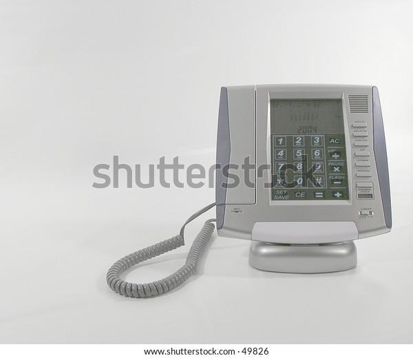 A grey metallic phone