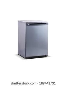 grey metallic small freezer