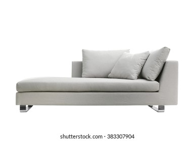 grey modern couch isolated on white