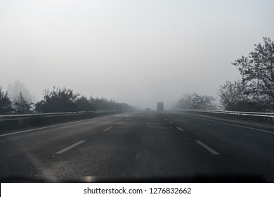 Grey Morning over the Road