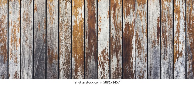 Grey and orange background with wooden texture horizontal top view isolated, vintage dark wood backdrop, old light blue rustic board, space blank back on the table, mock up nature wall, horizontal