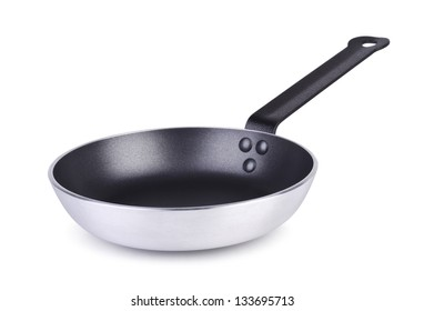 Grey pan; isolated on white
