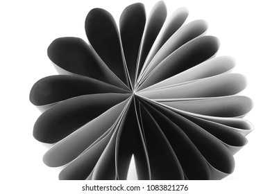 grey paper folded isolated on white
