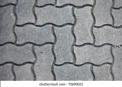grey paving tiles