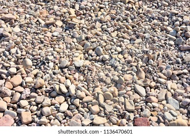 Grey pebbles as a background