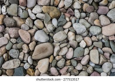 Grey pebbles background