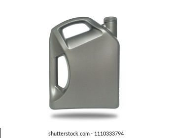 Grey plastic gallon on white background. Isolate plastic gallon on white.(with clipping path)