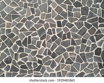 Grey print camouflage pattern. Old ceramic floor pattern tile texture background
