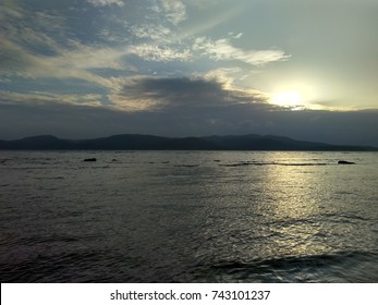 Grey Sea Sunset