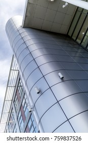 Grey or silver cladding gives an ultra modern and contemporary architectural feel to a building