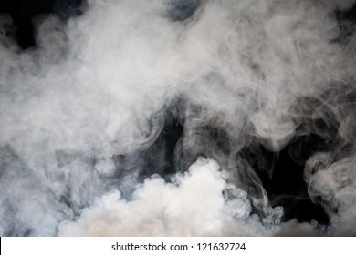 grey smoke with black background