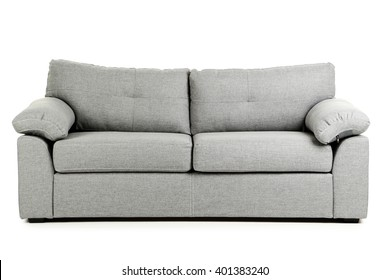 Grey sofa isolated on a white background