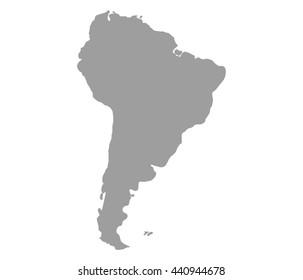 blank south america map
