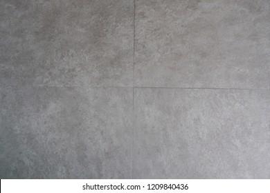Grey stone pattern vinyl tile floor texture background