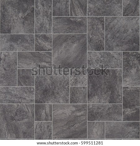 Grey Stone Tile Effect Vinyl Flooring Stock Photo Edit Now